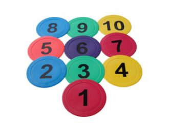 MARKER DISCS FLAT – NUMBERED 1-10
